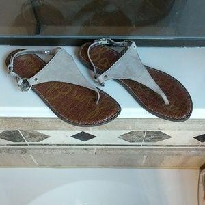 Sam Edelman Greta  Suede Slingback Thong Sandal